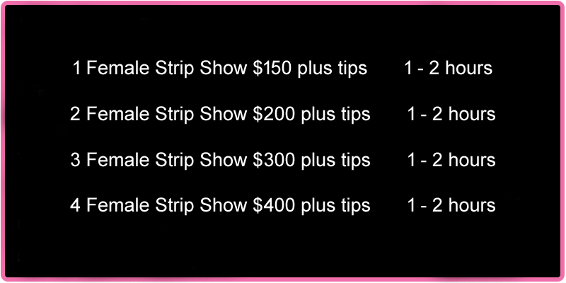 Rates for Hotel Party Female Strippers in Las Vegas